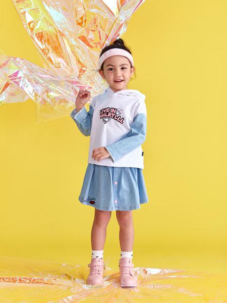 小鲨诺拉童装品牌2020春夏假两件长袖T恤