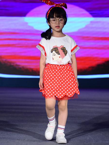 西萌叮童装品牌2020春夏卡通图案套装裙