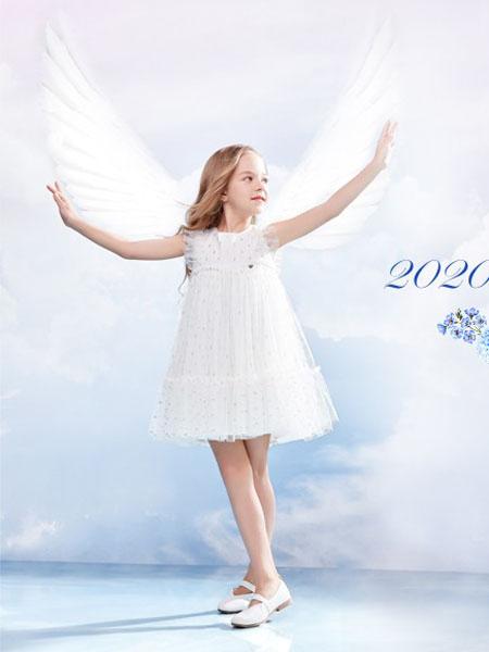 IKKI安娜与艾伦童装品牌2020春夏白仙女裙