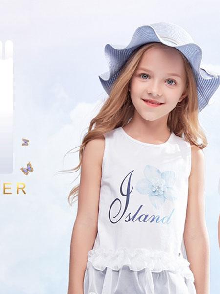 IKKI安娜与艾伦童装品牌2020春夏无袖衬衫白