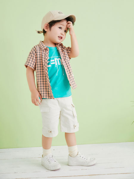 早言童装品牌2020春夏条纹衬衫