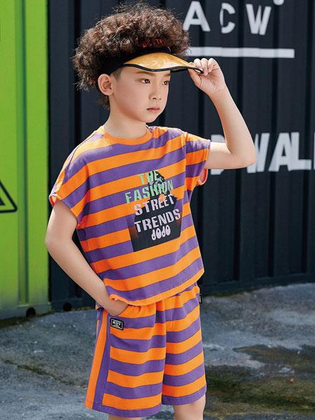 JOJO童装品牌2020春夏男童条纹短袖