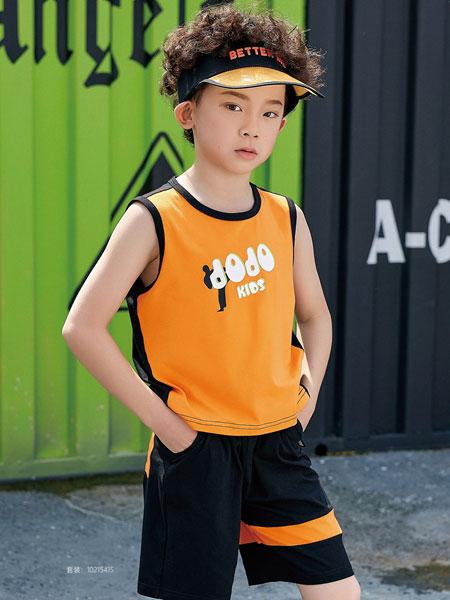 JOJO童装品牌2020春夏纯棉无袖背心短袖