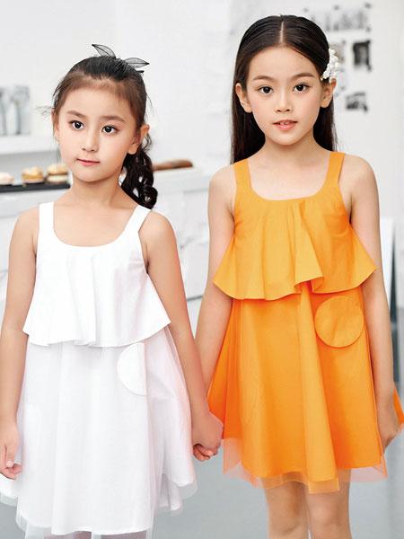JOJO童装品牌2020春夏时尚个性无袖连衣裙