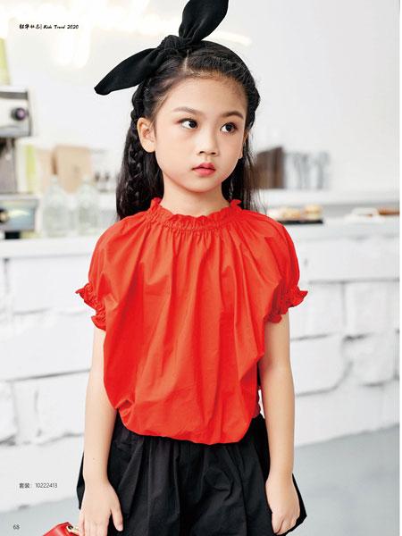 JOJO童装品牌2020春夏泡泡袖衬衫