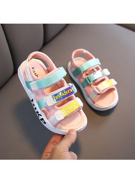 jugo童鞋品牌2020春夏新款时尚运动男童凉鞋韩版露趾女童沙滩鞋中大童
