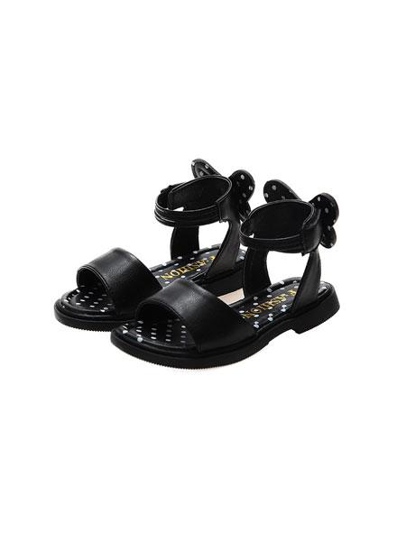 jugo童鞋品牌2020春夏儿童女童凉鞋魔术贴沙滩鞋波点百搭夏淑女学生鞋潮