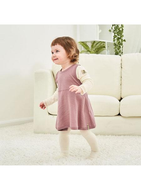 Janus童装品牌2020春夏婴儿韩连衣裙女宝宝保暖吊带小裙子外穿打底