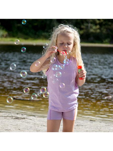 Janus童装品牌2020春夏羊毛儿童背心男童T恤女童夏款短袖速干衣