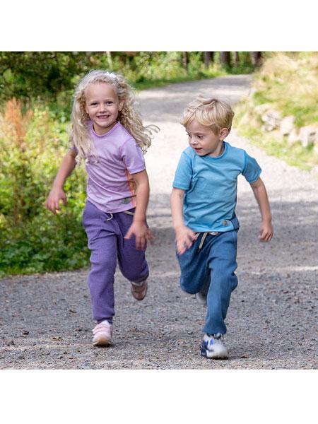 Janus童装品牌2020春夏羊毛T恤短袖速干舒适运动吸汗轻薄