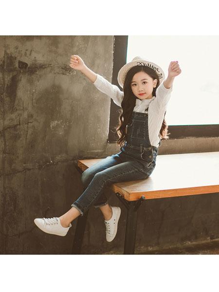 超倪童装品牌2020春夏新款儿童牛仔裤中大童背带裤