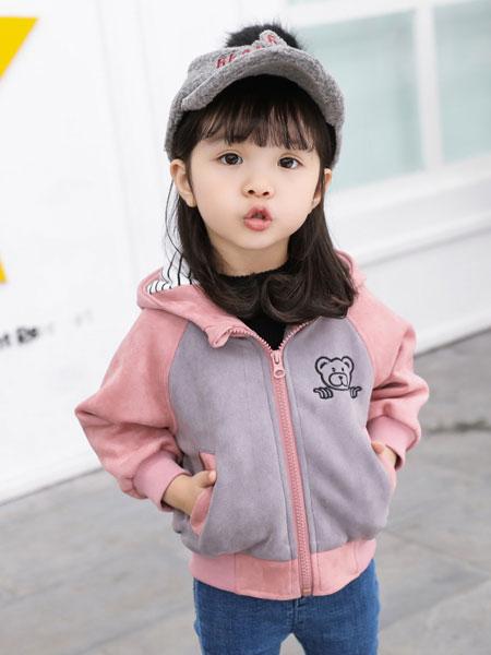 新恒梦想童装品牌2020春夏儿童麂皮绒卡通狐狸儿童夹克外套