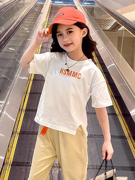 豆巴士童装品牌2020春夏纯棉印花短袖