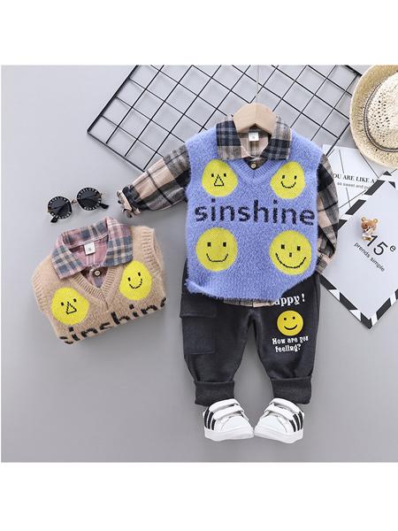 小巴戎童装品牌2020春夏中小童韩版休闲套装男女童长袖秋季三件套