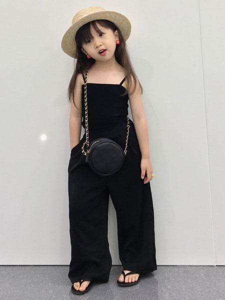 衣漫森林童装品牌2020春夏女童宝宝童装中小童防蚊裤阔腿休闲裤子
