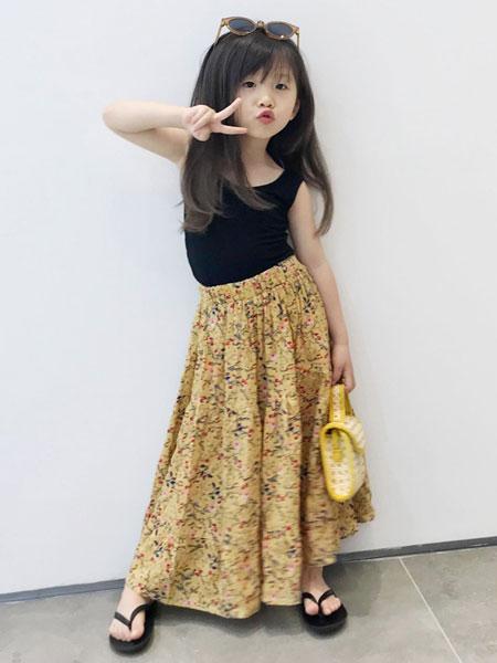 衣漫森林童装品牌2020春夏新款女孩中小童碎花复古儿童裙子半身裙