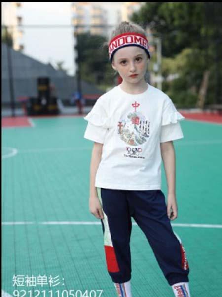 卡儿菲特童装品牌2020春夏白色T恤