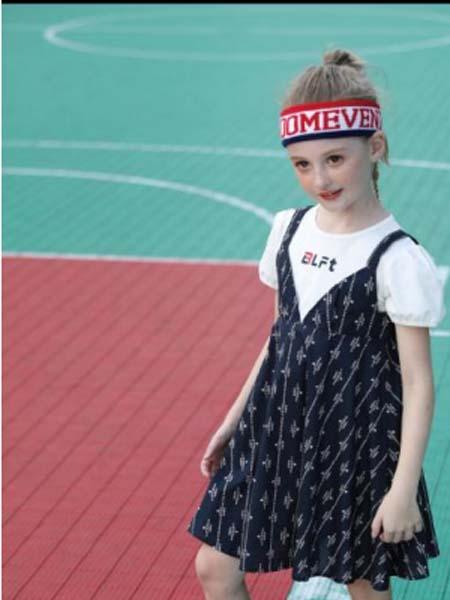 卡儿菲特童装品牌2020春夏连衣裙黑色