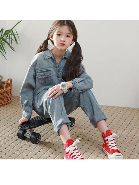 J KIDS童装品牌2020春夏牛仔连体裤