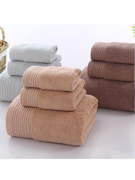图强婴童用品埃及长绒棉缎档浴巾