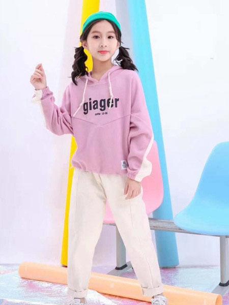 宾果童话童装品牌2020春夏印花甜美卫衣