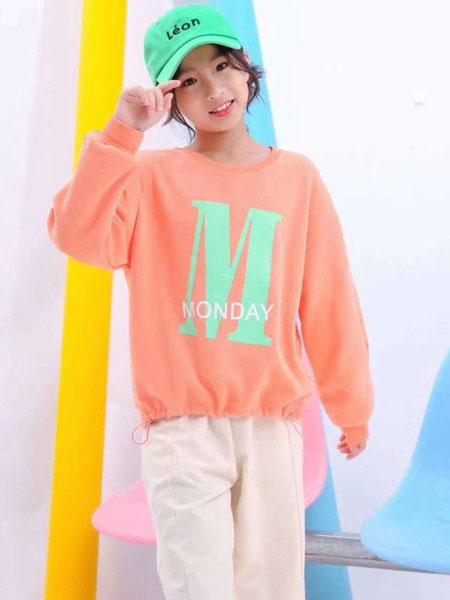 宾果童话童装品牌2020春夏印花字母卫衣