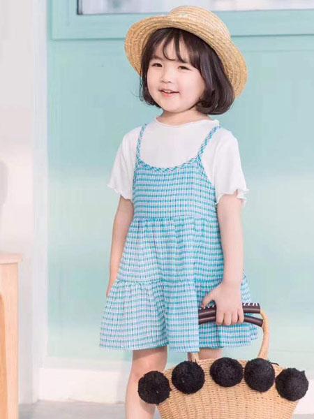 宾果童话童装品牌2020春夏女童背带裙