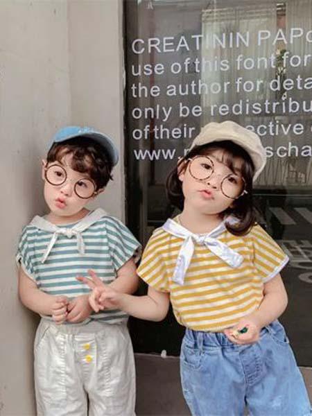 七秒易购童装品牌2020春夏T恤领结