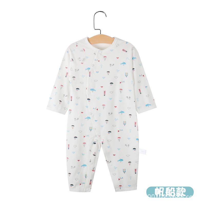 拓远童装品牌2020春夏婴儿纯棉连体衣婴儿保暖内衣宝宝纯棉睡衣婴儿长袖家居服