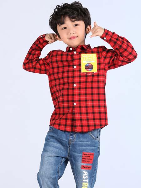 红蜻蜓KIDS童装品牌2020春夏格纹衬衫