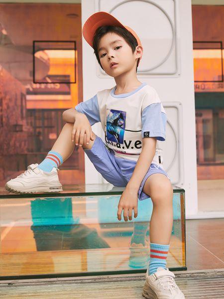 拉斐贝贝童装品牌2020春夏T恤短裤套装运动休闲男童