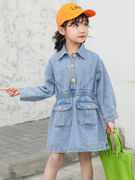 123童�b童�b品牌2020春夏牛仔�B衣裙