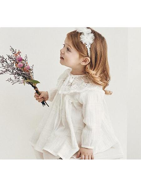 阿卡邦童装品牌2020春夏女童纯棉衬衣