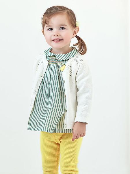 阿卡邦童装品牌2020春夏宽松条纹上衣