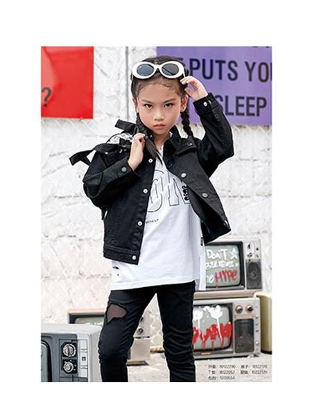 DIZAI童装品牌2020春夏酷炫皮夹克