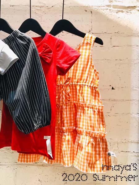 mayas童装品牌2020春夏连衣裙橙色