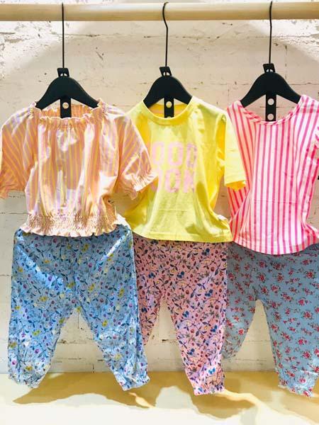 mayas童装品牌2020春夏条纹衬衫女童