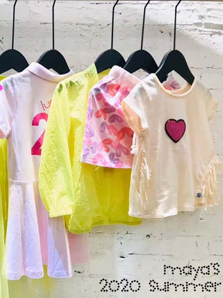 mayas童装品牌2020春夏T恤爱心