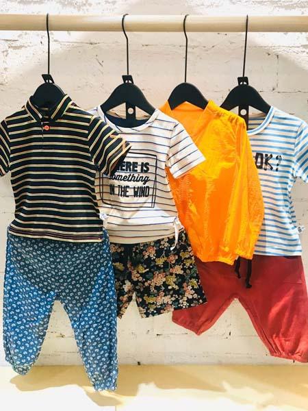 mayas童装品牌2020春夏条纹体恤短裤