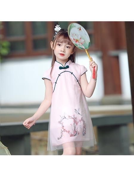 惟衣为童童装品牌2020春夏汉服旗袍新款儿童中国风复古装小女孩超仙夏季连衣裙