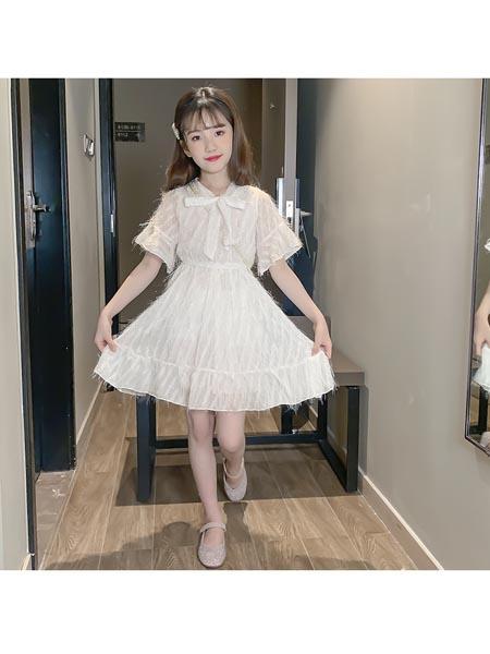 惟衣为童童装品牌2020春夏新款流苏连衣裙韩版公主休闲优雅潮范小女孩女童