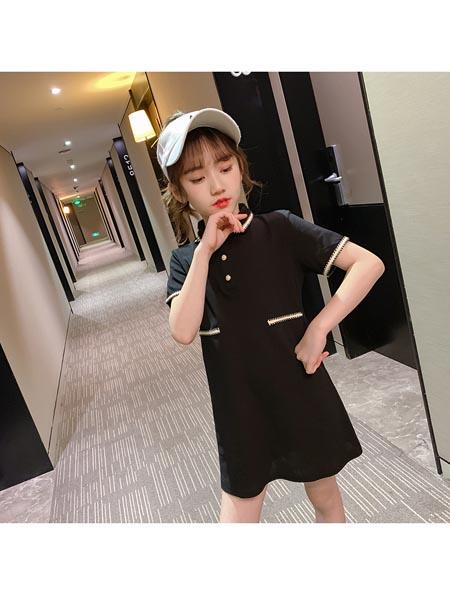 惟衣为童童装品牌2020春夏新款女童简约风亲子装小女孩韩版休闲校园连衣裙