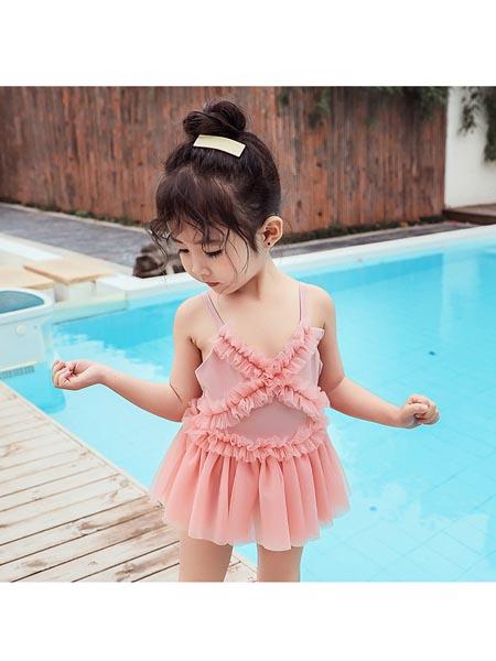 恒夏童装品牌2020春夏ins儿童泳衣女女童韩国可爱公主连体防晒泳装裙式小童宝宝游泳衣夏