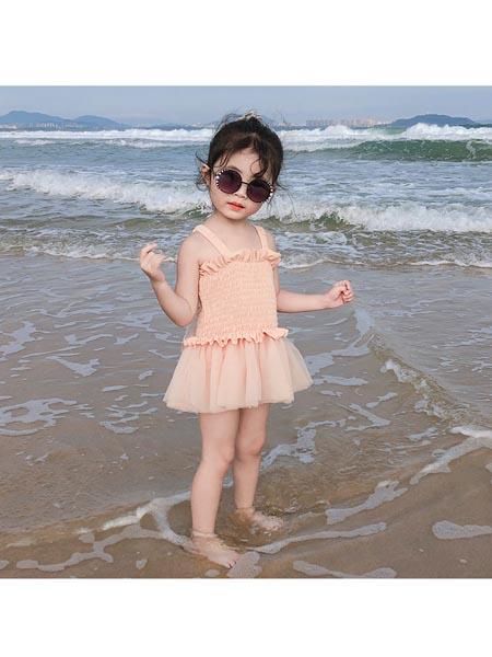 恒夏童装品牌2020春夏韩版ins儿童泳衣女童可爱翅膀连体泳衣女宝宝公主纱纱裙泳衣套装
