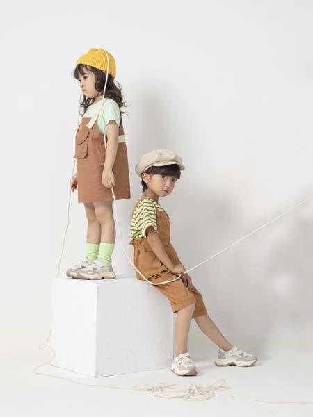彩色笔童装品牌2020春夏背带裤背带裙
