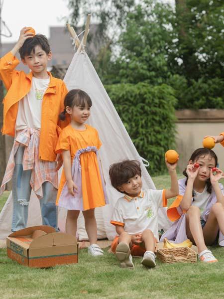 彩色笔童装品牌2020春夏橙色外套