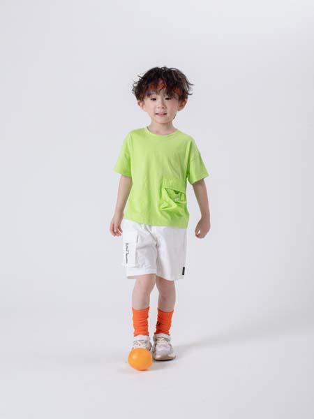 彩色笔童装品牌2020春夏绿色T恤