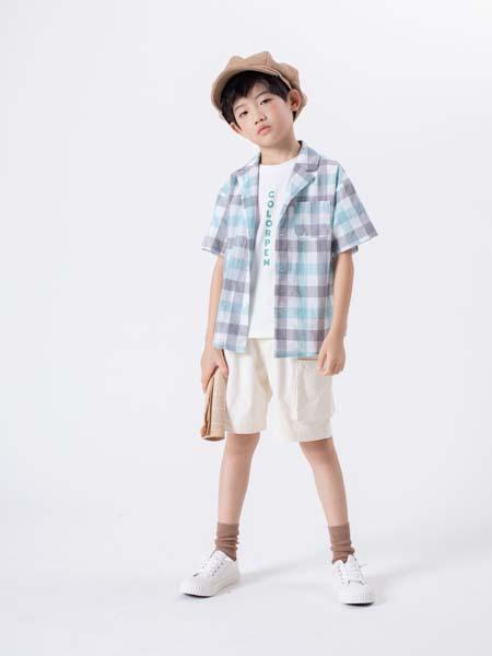 彩色笔童装品牌2020春夏短裤白色