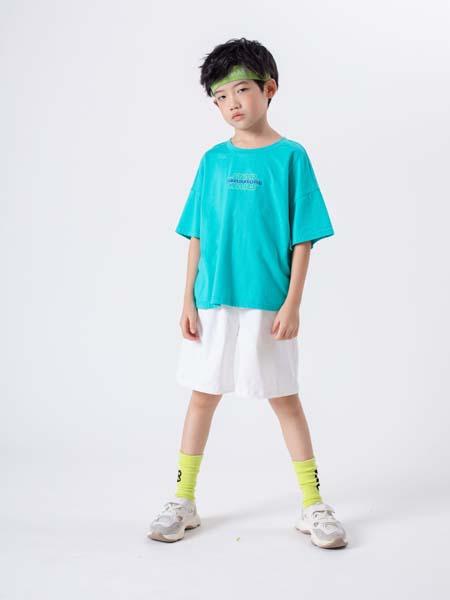 彩色笔童装品牌2020春夏蓝色T恤