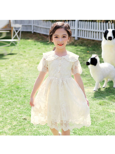 童婴界童装品牌2020春夏女童夏季连衣裙儿童刺绣公主裙宝宝超仙网纱裙子女孩韩版